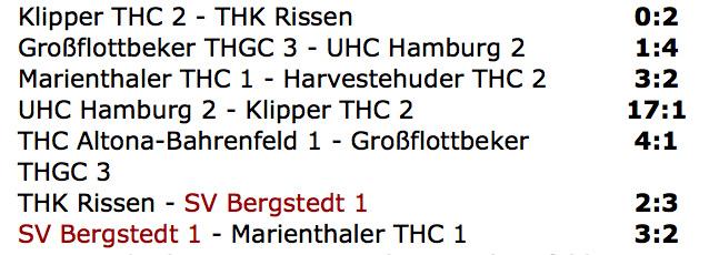Ergebnisse Spieltag 2 - Oberliga